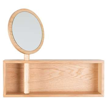 Zuiver Kandy Wall Shelf with Mirror (45 x 50cm)