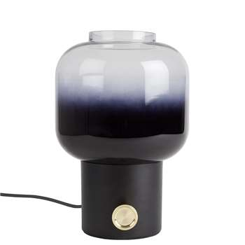 Zuiver Ombre Glass Table Lamp in Black (29.5 x 20cm)