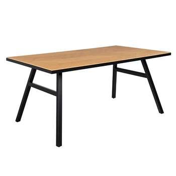 Zuiver Seth Herringbone Dining Table in Oak Veneer (H75 x W220 x D90cm)