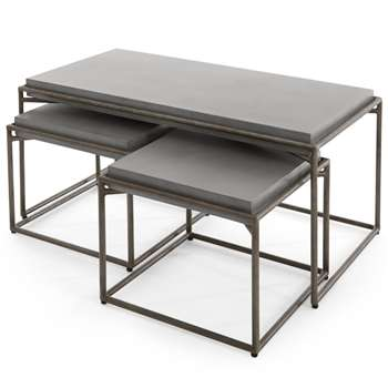Zurn Nesting Coffee Table, Concrete (H45 x W90 x D50cm)
