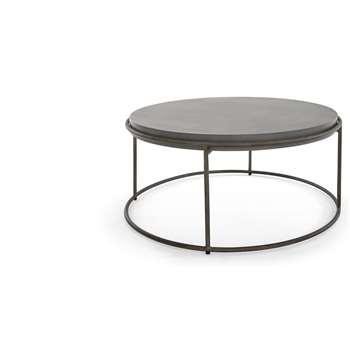 Zurn Round Coffee Table, Concrete (H43 x W90 x D90cm)