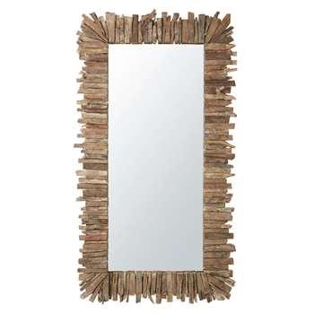 ZWANGA - Mirror with Slats Effect (H201 x W113 x D10cm)
